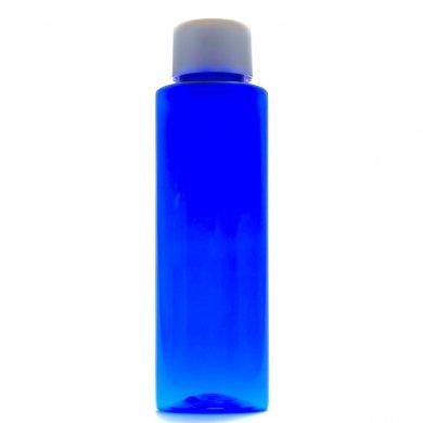 プラスチック容器 100mL コバルト ストレートボトル【スクリューキャップ:ホワイト】