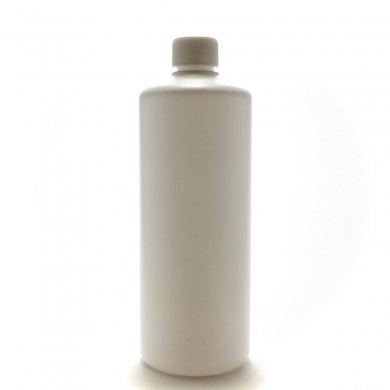プラスチック容器 500ml PE ストレートボトル [ ボトル:ホワイト / スクリューキャップ:ホワイト ] *中栓付き [ 120個/ロット 送料無料…