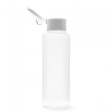 プラスチック容器 100mL LDPE 半透明 やわらか スクイズボトル【ヒンジキャップ:ホワイト】