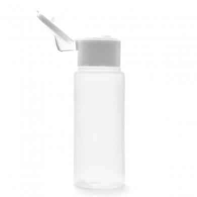 プラスチック容器 50mL LDPE 半透明 やわらか スクイズボトル [ ヒンジキャップ:ホワイト ]