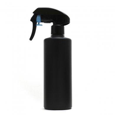 蓄圧式トリガースプレー 300ml PE ストレートボトル [ ボトル:遮光黒 / トリガー:ブラック(蓄圧式) ]