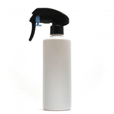蓄圧式トリガースプレー 300ml PE ストレートボトル [ ボトル:ホワイト / トリガー:ブラック(蓄圧式) ]