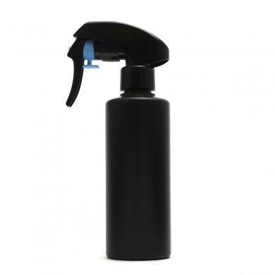 蓄圧式トリガースプレー 200ml PE ストレートボトル [ ボトル:遮光黒 / トリガー:ブラック(蓄圧式) ]