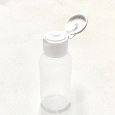 プラスチック容器 30ml LDPE 半透明 やわらか スクイズボトル [ ヒンジキャップ:ホワイト ]