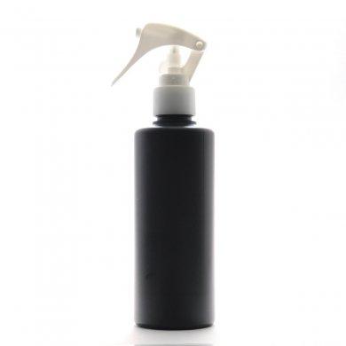 ミニトリガースプレー 200ml PE ストレートボトル [ ボトル:遮光黒 / トリガー:ホワイト(スライドロック) ]