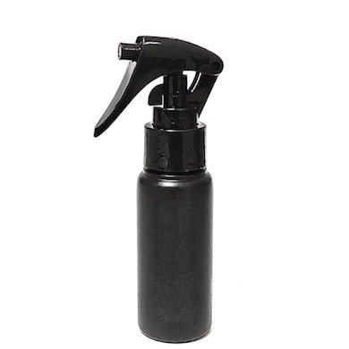 ミニトリガースプレー 50ml PE ストレートボトル [ ボトル:遮光黒 / トリガー:ブラック (スライドロック黒) ]