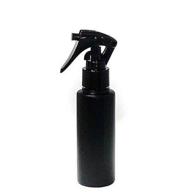 ミニトリガースプレー 100ml PE ストレートボトル [ ボトル:遮光黒 / トリガー:ブラック (スライドロック黒) ]