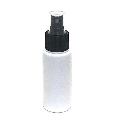 スプレーボトル 50ml PE ストレートボトル [ ボトル:遮光白 / スプレー:ブラック ]