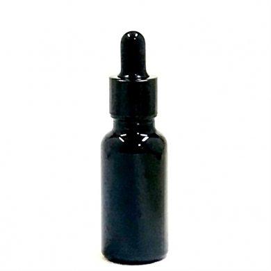 アロマ遮光瓶 20ml 遮光黒 [ スポイド付きキャップ ]