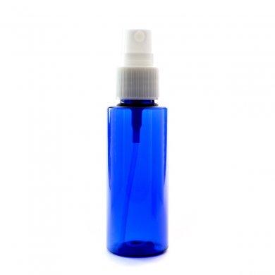 スプレーボトル 50ml PET ストレートボトル [ ボトル:コバルト / スプレー:ホワイト ]