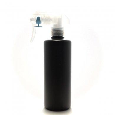 蓄圧式トリガースプレー 300mL PE 遮光黒 ストレートボトル [ トリガー:半透明 (蓄圧式) ]