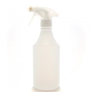 トリガースプレー 500ml [ ボトル:半透明 / トリガー:ホワイト ] [ 30個/ロット 送料無料 ]