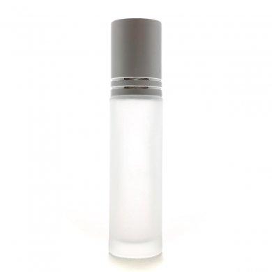 ロールオン フロストガラスボトル 10ml 【おしゃれシルバーキャップ】
