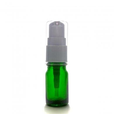 アロマ遮光瓶 5mL グリーン【ポンプ:ホワイト】
