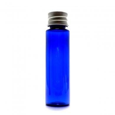 プラスチック容器 30mL PET コバルト ストレートボトル【アルミキャップ】