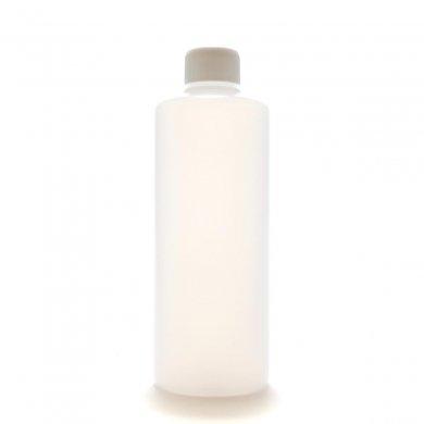 プラスチック容器 300ml PE ストレートボトル [ ボトル:半透明 / スクリューキャップ:ホワイト / 中栓 ]