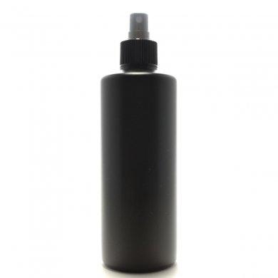 スプレーボトル 300ml PE ストレートボトル [ ボトル:遮光黒 / スプレー:ブラック ]
