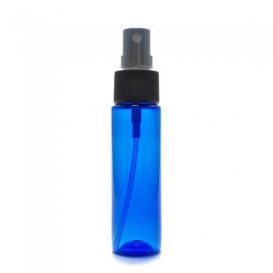 スプレーボトル 30ml PET ストレートボトル [ ボトル:コバルト / スプレー:ブラック ][ 36個入り/ロット 送料無料 ]
