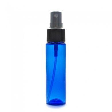 スプレーボトル 30ml PET ストレートボトル [ ボトル:コバルト / スプレー:ブラック ][ 108個入り/ロット 送料無料 ]