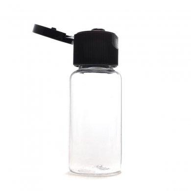 プラスチック容器 15mL【ヒンジキャップ:ブラック】
