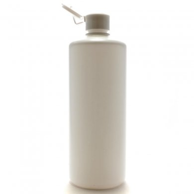 プラスチック容器 500ml PE ストレートボトル [ ボトル:ホワイト / ヒンジキャップ:ホワイト ]