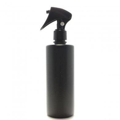 ミニトリガースプレー 300mL PE 遮光黒 ストレートボトル [ トリガー:ブラック (プッシュロック) ]
