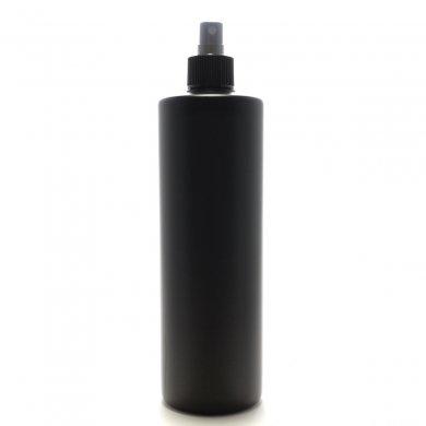 スプレーボトル 500mL PE 遮光黒 ストレートボトル [ ブラックフィンガースプレー ]