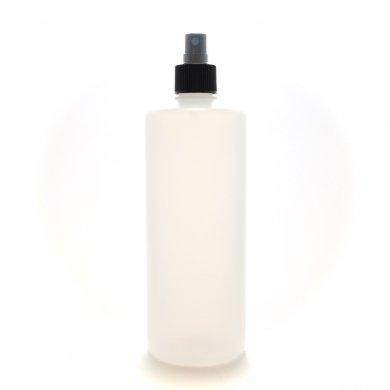 スプレーボトル 500mL PE 半透明 ストレートボトル [ ブラックフィンガースプレー ]