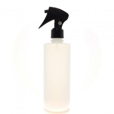 ミニトリガースプレー 300ml PE ストレートボトル [ ボトル: 半透明 / トリガー:ブラック(プッシュロック) ] [ 60個/ロット 送料無料 ]