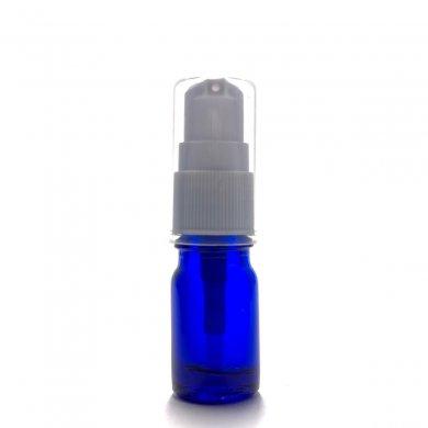 アロマ遮光瓶 5mL コバルト【ポンプ:ホワイト】