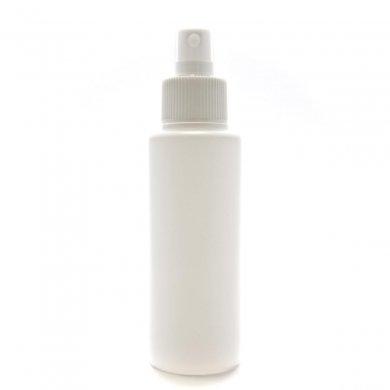 スプレーボトル 100ml PE ストレートボトル [ ボトル:ホワイト / スプレー:ホワイト ]