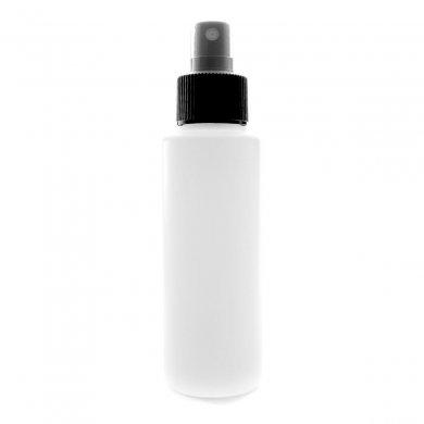 スプレーボトル 100ml PE ストレートボトル [ ボトル:ホワイト / スプレー:ブラック ]