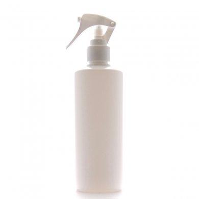 ミニトリガースプレー 300ml PE ストレートボトル [ ボトル:ホワイト / トリガー:ホワイト (スライドロック) ]