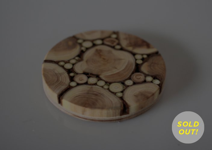 エストニア puupankの木工芸のコースター