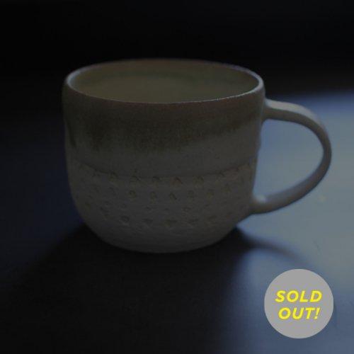 遠野秀子さんのうつわ 白夜シリーズ マグカップ