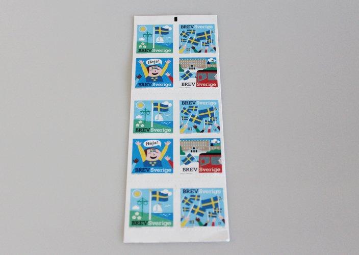 スウェーデン切手コレクション