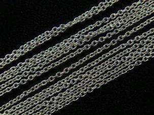 シルバー925 Silver ロジウムコーティング ネックレスチェーン