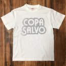 COPA SALVO ロゴ T-SHIRTS : WHITE X SILVER