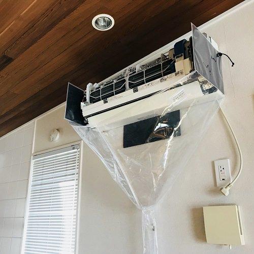 SA-N08D 壁掛用エアコン洗浄シート(オープン)【高さ×幅×奥行 25×90×30cm】