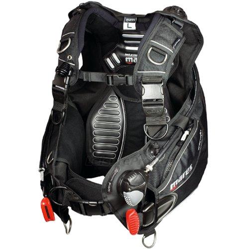 マレス Mares Dragon Airtrim BC with MRS Plus Weight Pockets, Black