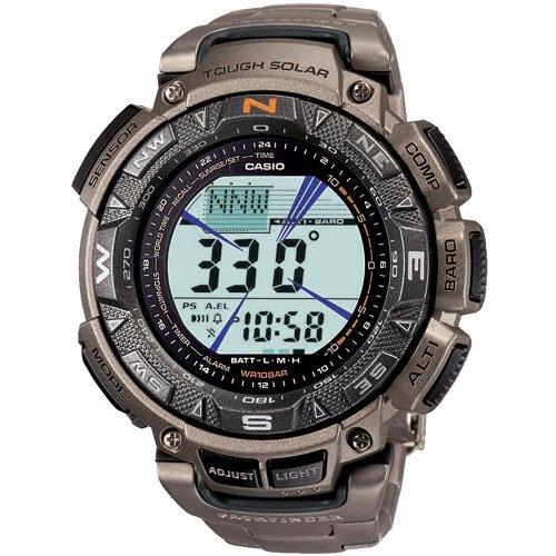 ������ Casio Men's PAG240T-7 Pathfinder Triple Sensor Multi-Function Titanium Bracelet Watch