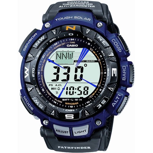 ������ Casio Men's PAG240B-2 Pathfinder Triple Sensor Multi-Function Nylon Strap Watch