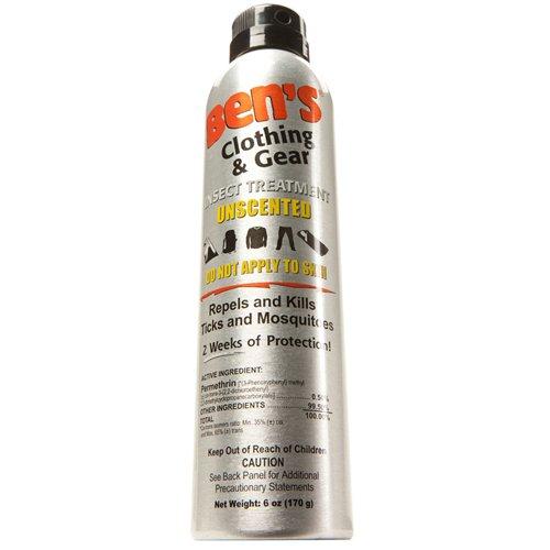 アクア Ben's Clothing & Gear Repellent Spray, 6 fl oz (177 ml)