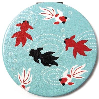 和柄コンパクトミラー/金魚
