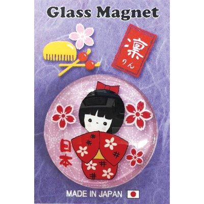 ガラスマグネット/日本 紅葉