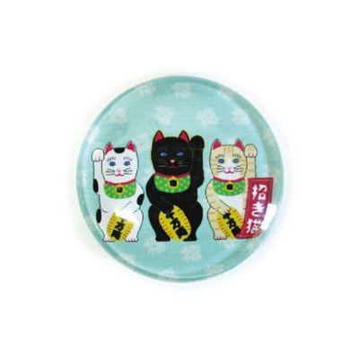 ガラスマグネット/招き猫 3
