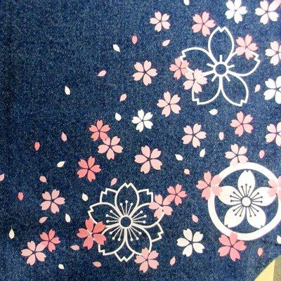 オリジナル和柄トートバッグ/桜(デニム)