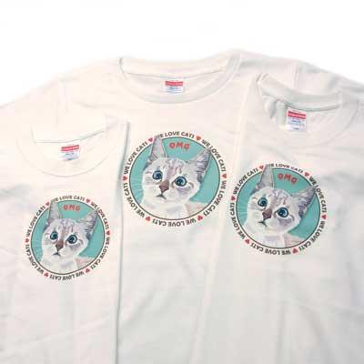 【レディース】オリジナルTシャツ・ネコ/OMG(オーマイガー)