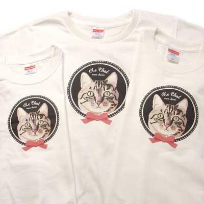 【レディース】オリジナルTシャツ・ネコ/Le chat(ルシャ)
