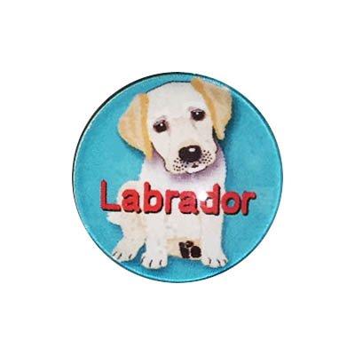 20mmガラスピンバッジ・犬/ラブラドール(GR)